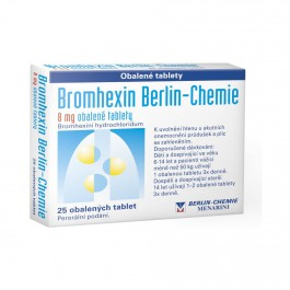 Bromhexin 8mg 25 tablet