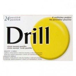 Drill Citron Mentol 24 pastilek