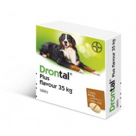Drontal Plus Flavour 35 kg 2 tablety