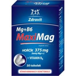 Zdrovit MaxiMag Hořčík 375 mg + B6 50 tobolek AKCE