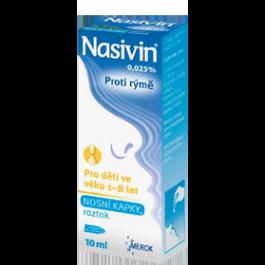 NASIVIN 0,025% kapky pro děti od 1 do 8 let 10ml