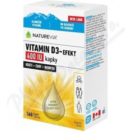 Swiss NatureVia Vitamin D3-Efekt 400 IU kapky 10,8ml