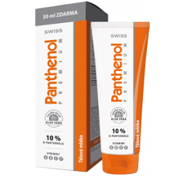 Swiss Panthenol 10% Premium tělové mléko 250ml+dárek tyčinka na rty Swiss panthenol