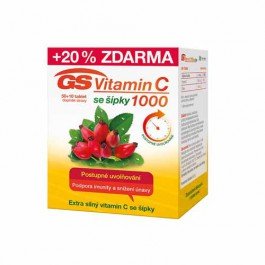 GS Vitamin C 1000 se šípky 60 tablet