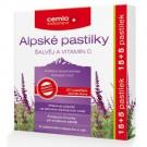 Cemio Alpské pastilky ŠALVĚJ A VITAMIN C 15+5 ks