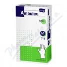 Ambulex rukavice latexove jemné pudrované vel. S, M, L, XL 100ks AKČNÍ CENA DO 31.8.