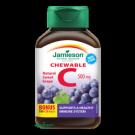 JAMIESON Vitamin C 500mg hroznové víno cucací 120 tablet expirace 11/2019