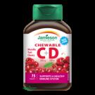 JAMIESON Vitamíny C a D3 500 mg/500 IU tablety na cucání s příchutí třešně 75 tbl.