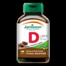 JAMIESON Vitamín D3 1000IU tablety s příchutí čokolády 100tbl.